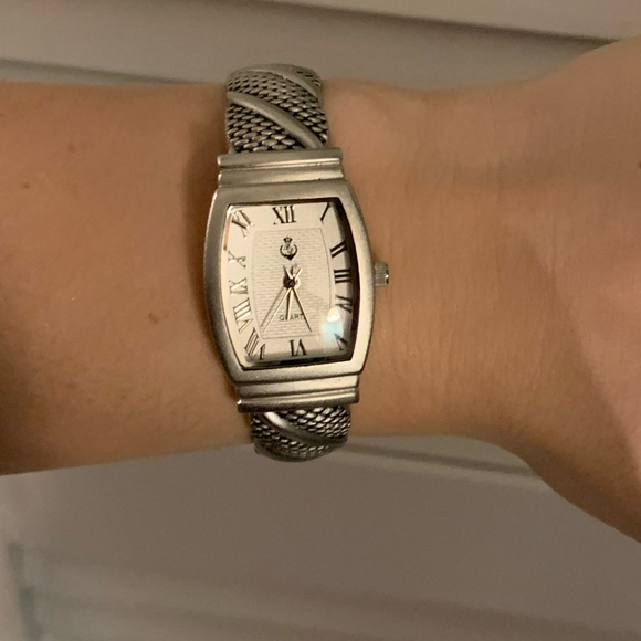 Premier Designs Accessories - Silver Clasp Watch-BRAND NEW BATTERY!